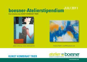 Boesner Atelierstipendium Juli 2011